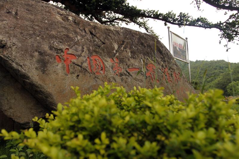 """小芝镇党委书记李光明用四个""""美""""来概括了中岙:""""中岙村第一就是"""