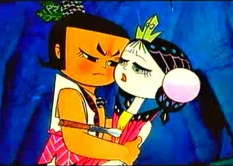 动画片的情节是,善良的老爷爷种下一棵葫芦藤,结出了七颗颇有灵性的大