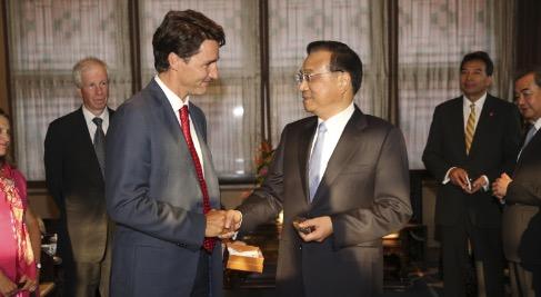 李克强会见加拿大总理