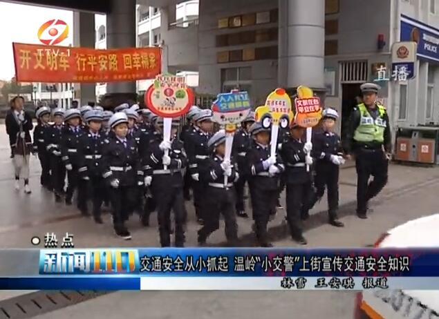 """交通安全从小抓起 温岭""""小交警""""上街宣传交通安全知识"""