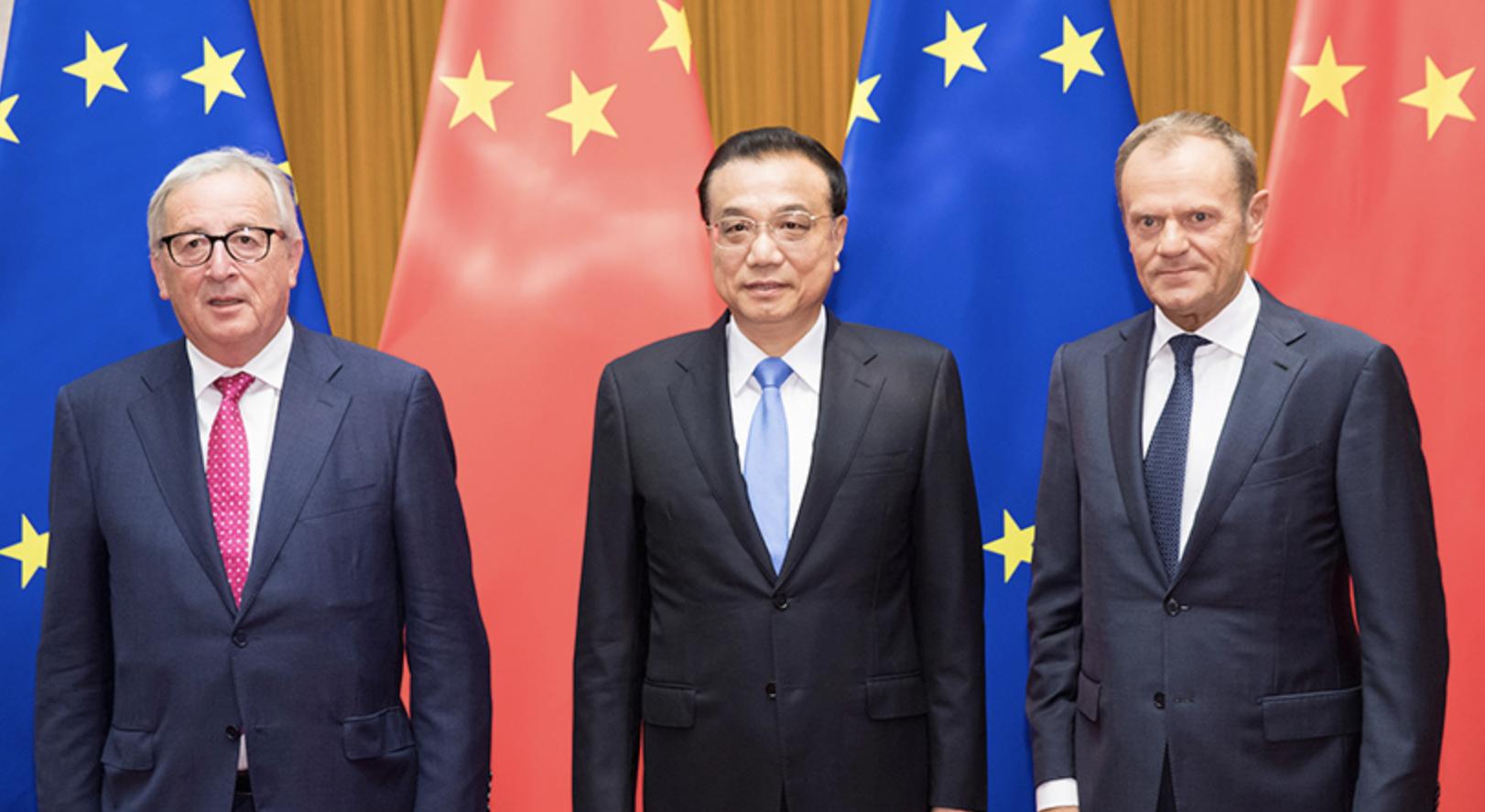 李克强与欧盟领导人共同会见记者