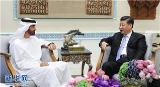 习近平会见阿联酋阿布扎比王储穆罕默德