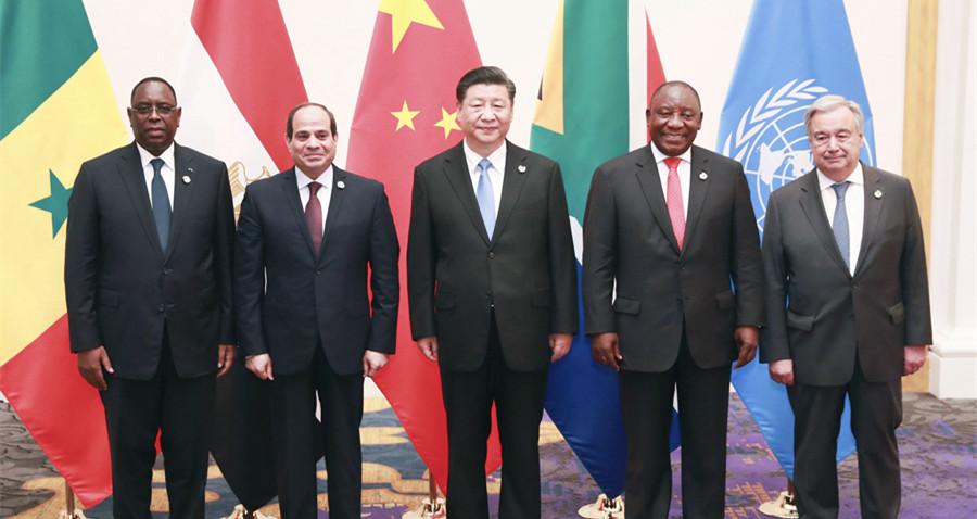 習近平主持中非領導人會晤