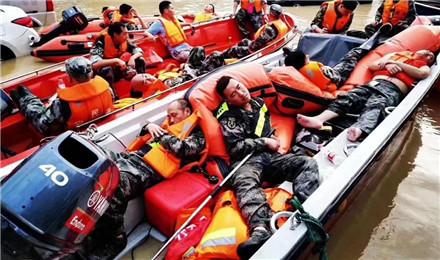 参与临海救援的宁波志愿者:台州是座温暖有爱的城市!